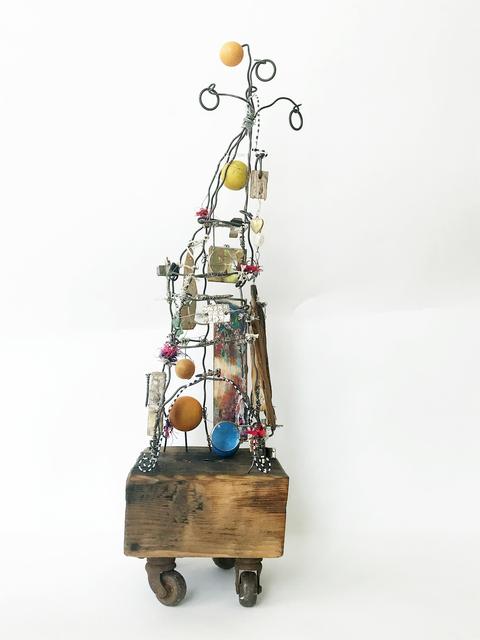 Robin Howard, 'Wayfinder', 2020, Sculpture, Encaustic, wire, wood, oil crayon, glass, fiber, found objects, Miller Gallery Charleston