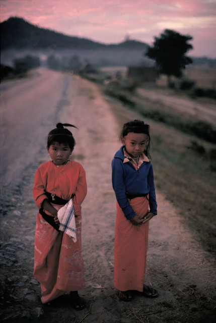 , 'Boy and girl in front of the Mandalay Hill, MYANMAR,' 1978, Hakgojae Gallery