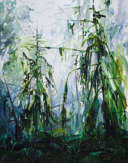 , 'Trees and Ferns,' 2017, DC Moore Gallery