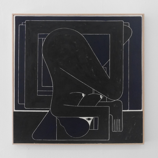 , 'Black Square (Single Figure),' 2017, V1 Gallery