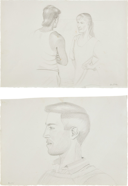 Alex Katz, 'Two works: (i) Beach Encounter; (ii) Vincent', Phillips