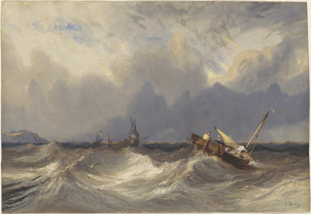 Eugène Isabey, 'Fishing Boats Tossed before a Storm', ca. 1840, National Gallery of Art, Washington, D.C.