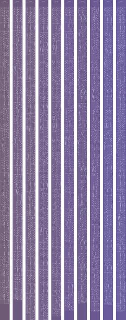 , 'metamorphosis music notation numeral 0,' 2015, Johan Deumens Gallery