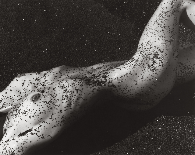 , 'Female Figure in Black Sand, Hawaii (f),' 1988, Fahey/Klein Gallery