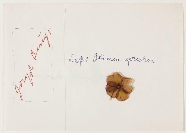 , 'Laßt Blumen sprechen,' 1974, Galerie Thomas