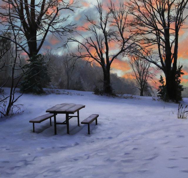 Scott Prior, 'Picnic Table in Winter', 2015, William Baczek Fine Arts