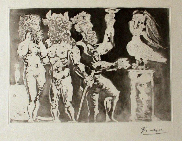 Pablo Picasso, 'Personnages Masqués et Femme Oiseau', 1934, Wallector