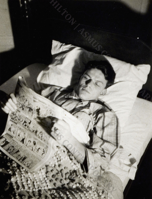 , 'Frank Sinatra - Reading the Funnies,' ca. 1939, Hilton Asmus