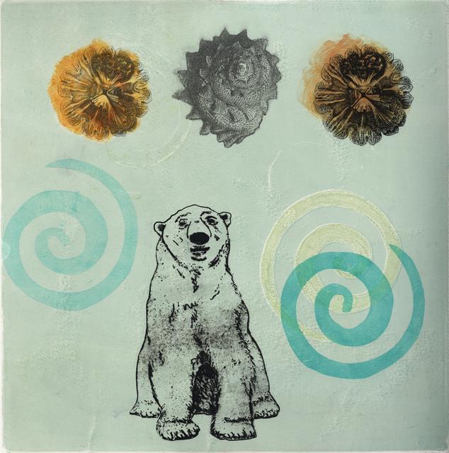 Maryly Snow, 'Polar 2: Gyres and Shells', 2010, Print, Monoprint, Kala Art Institute