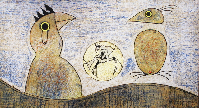 Max Ernst, 'Composition in Ochre and Blue', 1975, ArtWise