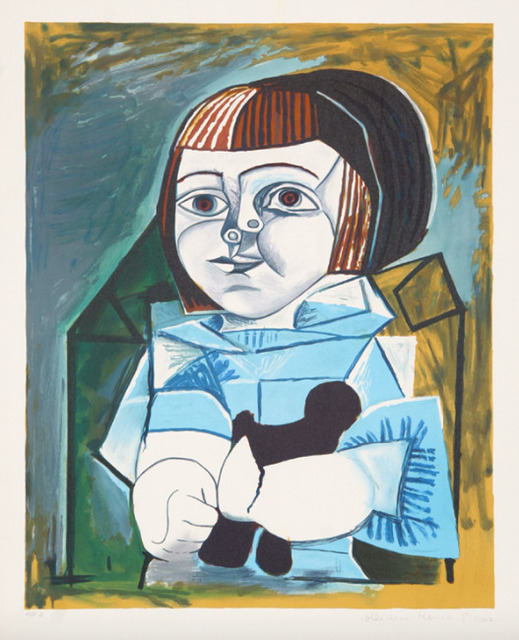 Pablo Picasso, 'Paloma en Bleu, 1952', 1979-1982, Print, Lithograph in colors, on Arches paper, Upsilon Gallery