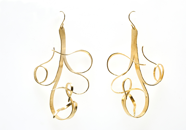 """Jacques Jarrige, 'Gold Plated Earrings by Jacques Jarrige """"Fiori""""', 2016, Valerie Goodman Gallery"""