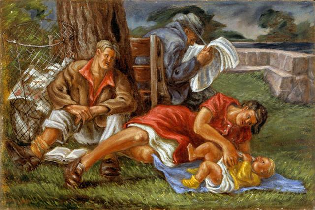 Frederick Hagan, 'Family at Fairy Lake', Bau-Xi Gallery