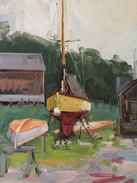 Benjamin Lussier, 'The Workshop', 2018, Painting, Oil on panel, Grenning Gallery
