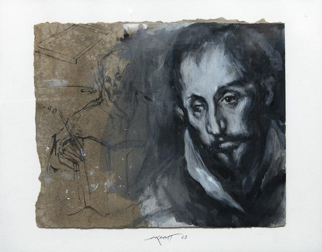 , 'D'après le Saint Luc du Greco ,' 1961, Galerie Lelong & Co.