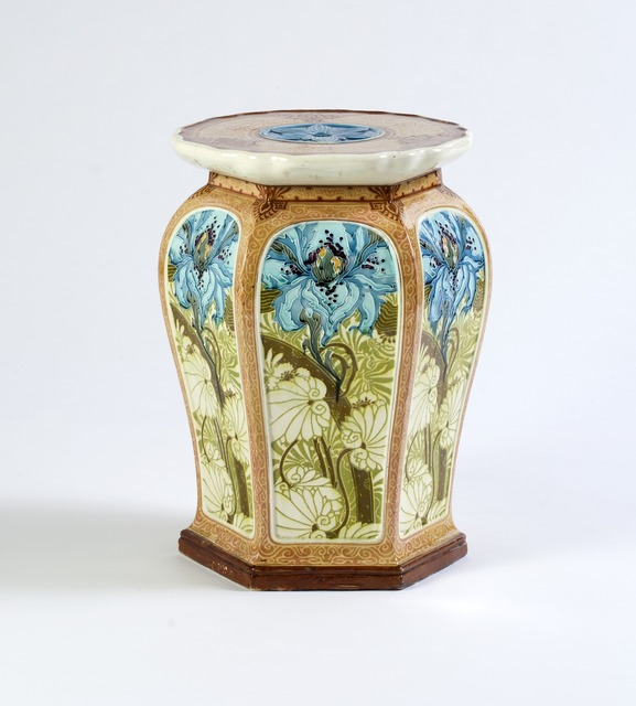 , 'Garden Stool / Side Table with Foliage Motifs,' ca. 1900, Susan Weber Collection