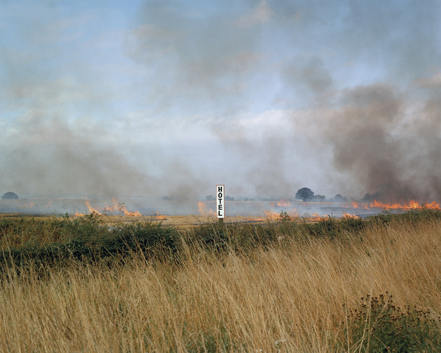 , 'Burning fields, Melmerby, North Yorkshire, September from the series A1,' 1981, Anthony Reynolds Gallery