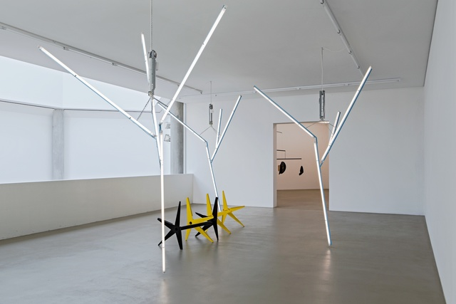 , 'Our Love is Like the Flowers, the Rain, the Sea and The Hours (Black and Yellow Benches with Trees),' 2002, Kunstmuseum Basel