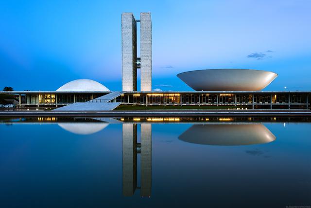 Andrew Prokos, 'Congresso Nacional at Dusk, Brasilia I', 2015, Andrew Prokos Fine Art Photography