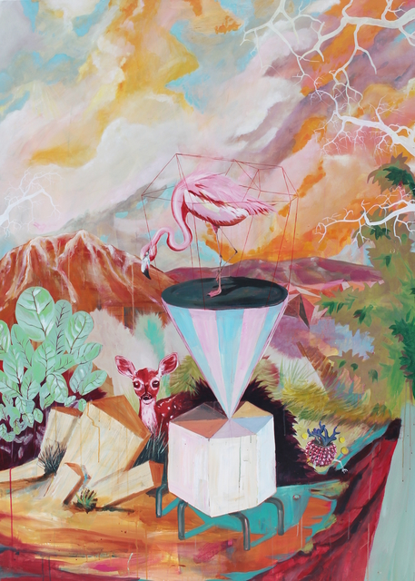 , 'Je wou de hoogste zijn maar verbrandde je aan de zon,' 2018, Nathalia Tsala Gallery