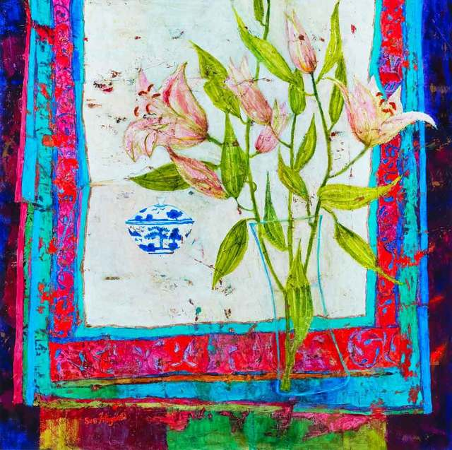 , 'Lilies and Tea Bowl,' 2017, Catto Gallery