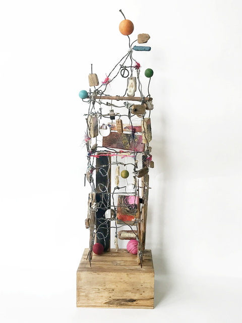 Robin Howard, 'Shelter I', 2020, Sculpture, Encaustic, wire, wood, oil crayon, glass, fiber, found objects, Miller Gallery Charleston