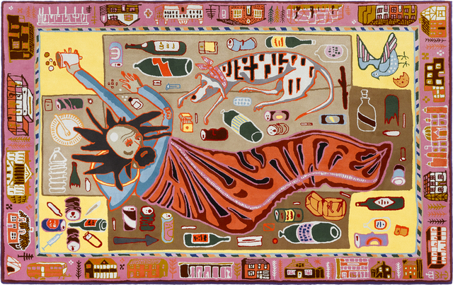 Grayson Perry, 'Don't Look Down', 2019, Textile Arts, 100% pure new wool, Victoria Miro
