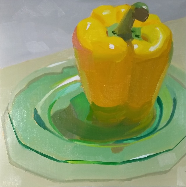 Yuri Tayshete, 'Yellow Pepper on a Green Plate', 2020, 440 Gallery