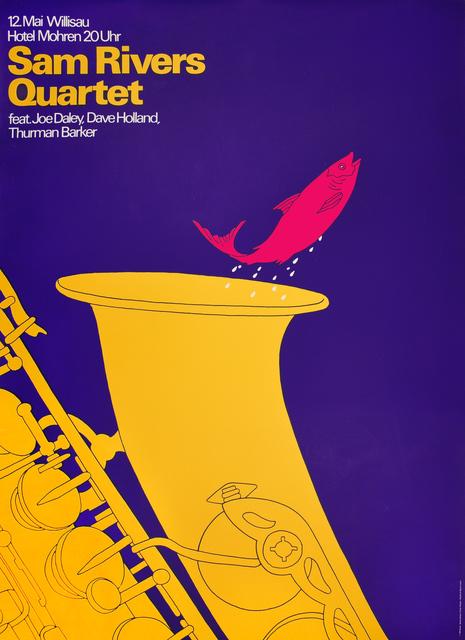 Niklaus Troxler, 'Sam Rivers Quartet Willisau - Fish in Saxophone', 1979, Omnibus Gallery