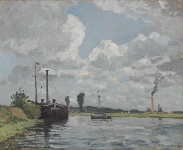 , 'Bords de l'Oise, environs de Pontoise ,' 1872, Stern Pissarro