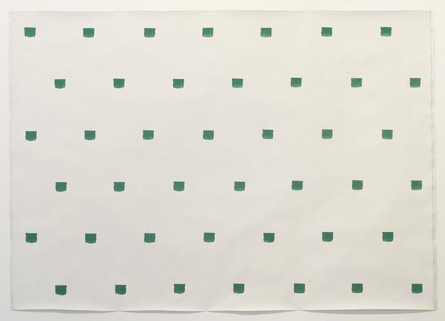 , 'Empreintes de pinceau N°50 à intervalles de 30 cm: Politoile,' 1986, Museum Dhondt-Dhaenens