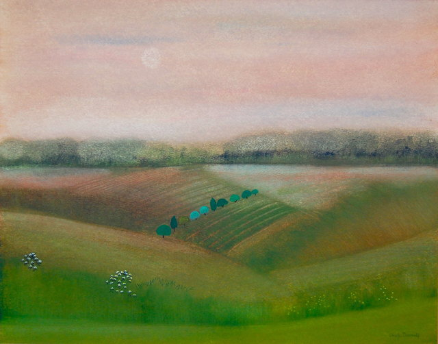 , 'The fields were suffused with light in the early evening,' ca. 1970, Robert Eagle Fine Art