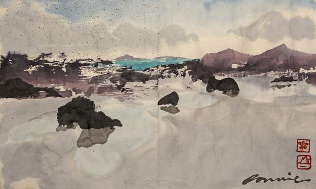 , 'Study for Three Rock Pools,' 2018, Tatha Gallery