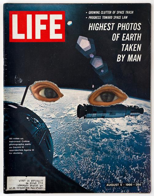 , 'LIFE Cutout No. 014 (August 5, 1966, Space Child's Eyes),' 2018, Luis De Jesus Los Angeles