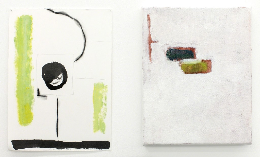 Agnes Maes, work on paper and oil painting.