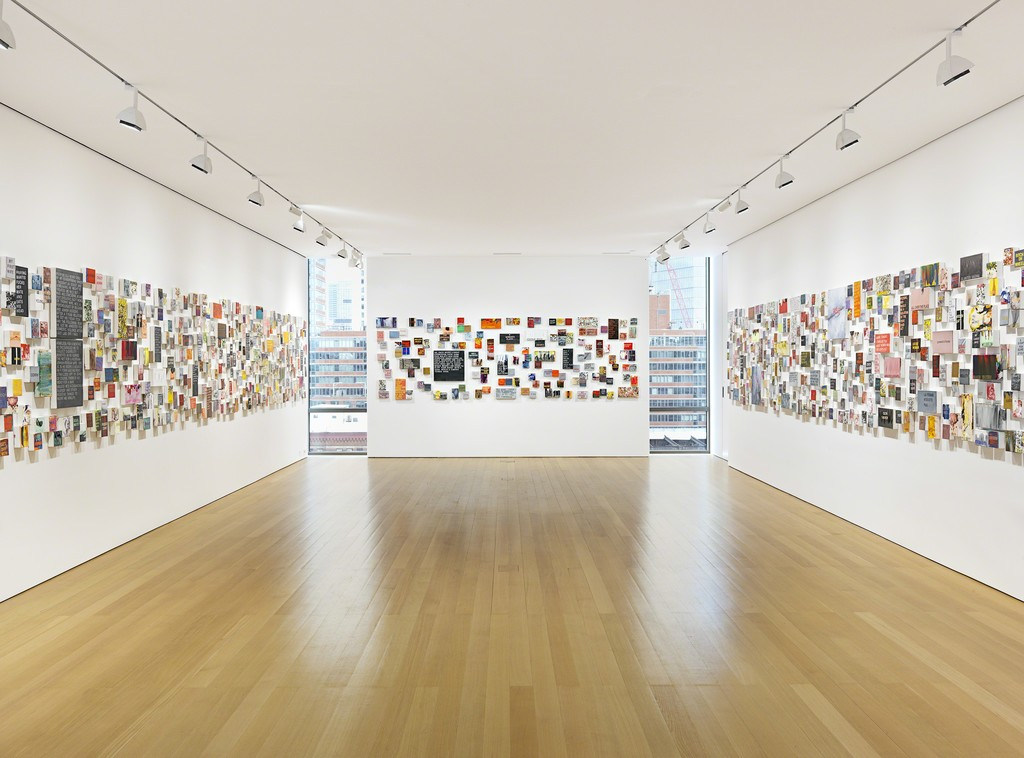 "Installation view of Betty Tompkins: ""WOMEN Words, Phrases, and Stories"". Photo by Genevieve Hanson, NYC"