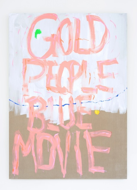 , 'Gold People Blue Movie,' 2014, Galerie Catherine Bastide
