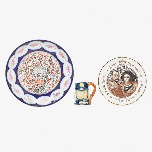 Roberto Lugo, 'Two plates and one mug, USA', 2010s, Rago
