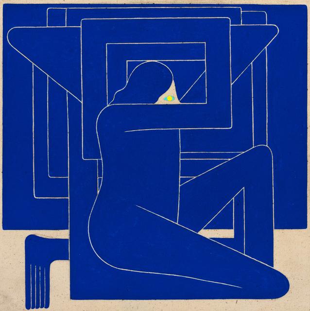 , 'Untitled, (Blue Figure, Yellow Eye),' 2018, V1 Gallery