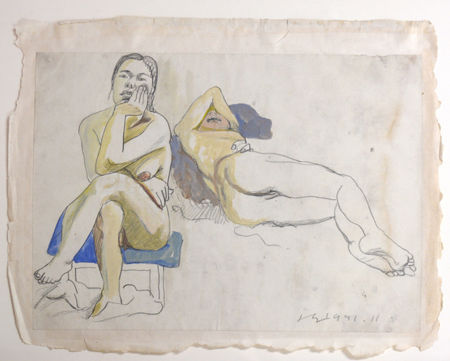 Liu Xiaodong, 'Study of Two Nudes', 1993, Ethan Cohen New York