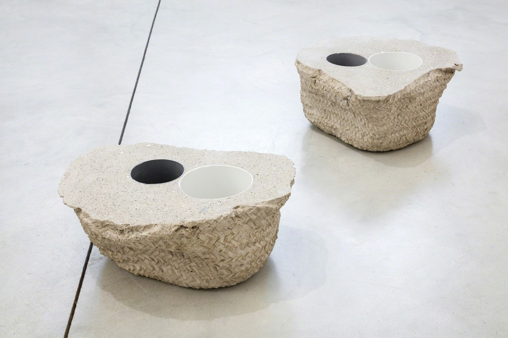 Untitled (basquets), concrete and PVC