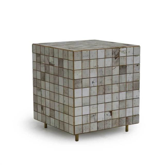 , 'White Waste Tile Cube Cabinet,' 2018, The Future Perfect