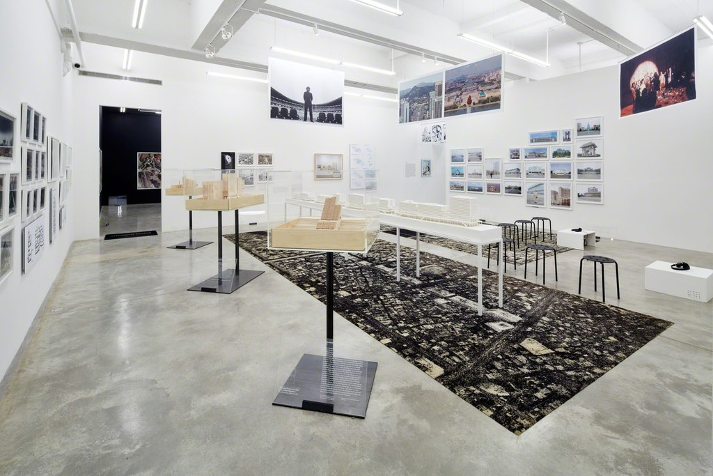 Monumental State, Crow's Eye View: The Korean Peninsula; Tina Kim Gallery, NY, 2015. Photo by Jeremy Haik