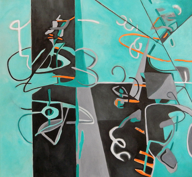 , 'Composition in Green,' 2015, Walter Wickiser Gallery