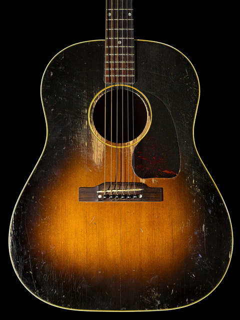 Henry Leutwyler | Janis Joplin's (1943 - 1970) Gibson acoustic guitar  She  often played Gibson guitars, most notably a J-45 and a Hummingbird  (2016)