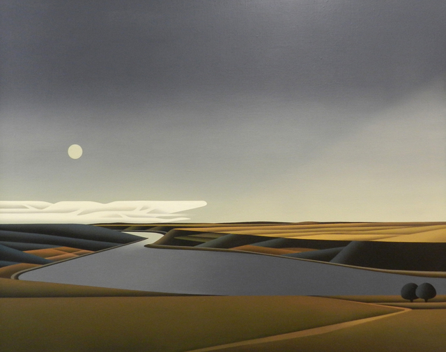 , 'Mondaufgang Am Rhein,' 2051, 3 Punts Galeria