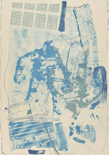 Robert Rauschenberg, 'White Walk (Stoned Moon)', 1970, Print, Lithograph with embossing, San Francisco Museum of Modern Art (SFMOMA)