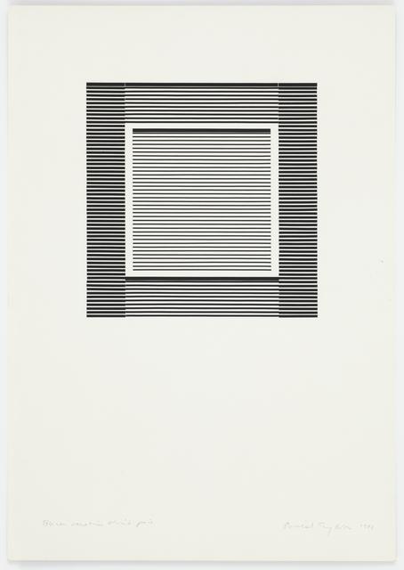 Michael Craig-Martin, 'Black Venetian Blind Piece', 1988, Cristea Roberts Gallery