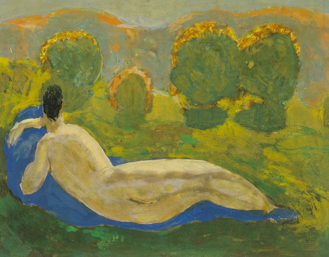 , 'Reclining Nude from the Back in the Sunset,' ca. 1920, Galerie Bei Der Albertina Zetter