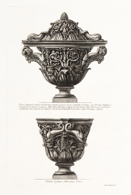 Giovanni Battista Piranesi, 'Fig. A. Two Views of Cinerary Vase', 1773-1778, Eames Fine Art